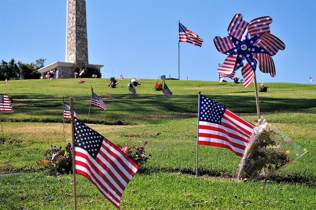 One of the many cemeteries across the US that pay homage to those that fought for our freedom