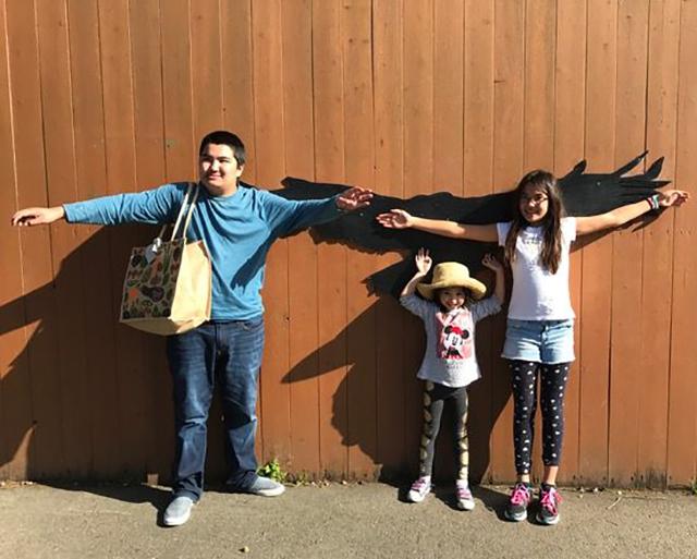 Left to right: Tim, Zara, and Callia Kanaaneh, photo courtesy of the Kanaaneh family