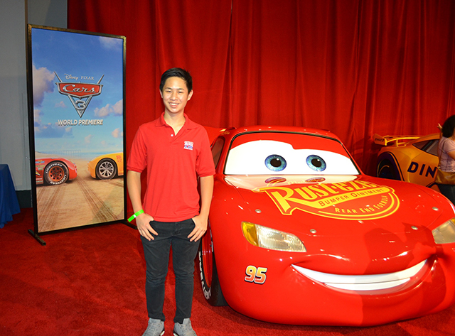 "Scholastic Kids Reporter Jeremy Hsiao at ""Cars 3"" Press Conference at Anaheim Convention Center on June 10, 2017 in Anaheim, California. (Photo Credit : Andy Hsiao)"