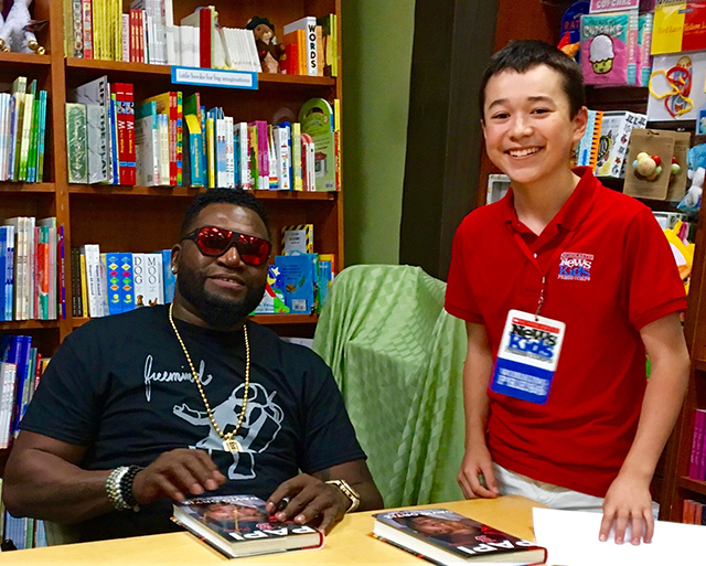 Max and David Ortiz at Wellesley Books in Massachusetts, May 18, 2017