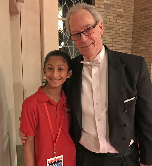 Hana with Yaacov Bergman, conductor of the Portland Chamber Orchestra