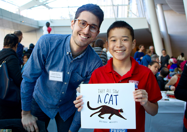 Max with author and illustrator Brendan Wenzel