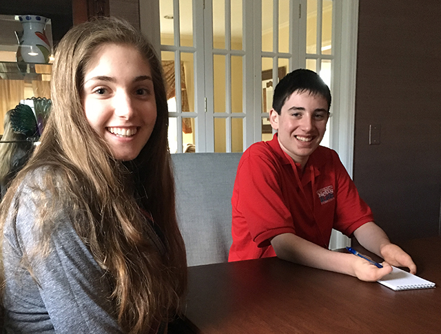 Ethan with student volunteer Amalia Tobias
