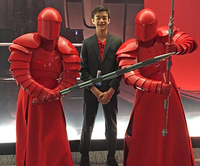 Ben with Praetorian Guard, Dec 3, 2017
