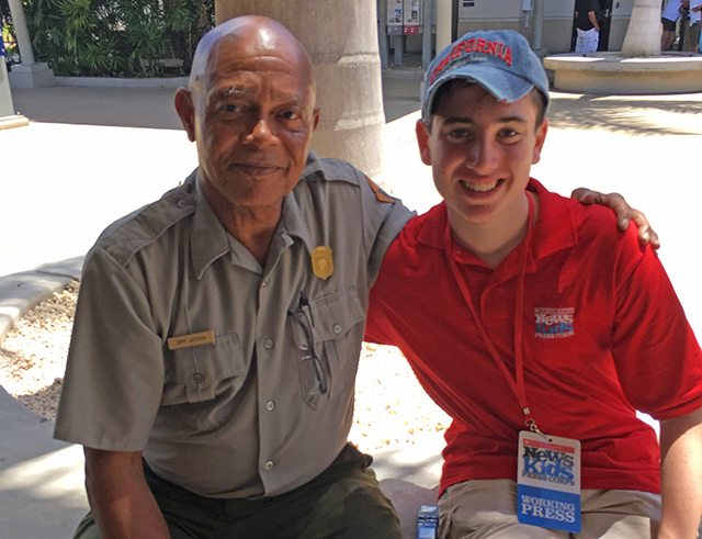 Ranger Gary Jackson and Ethan at Pearl Harbor. Photo courtesy of the author