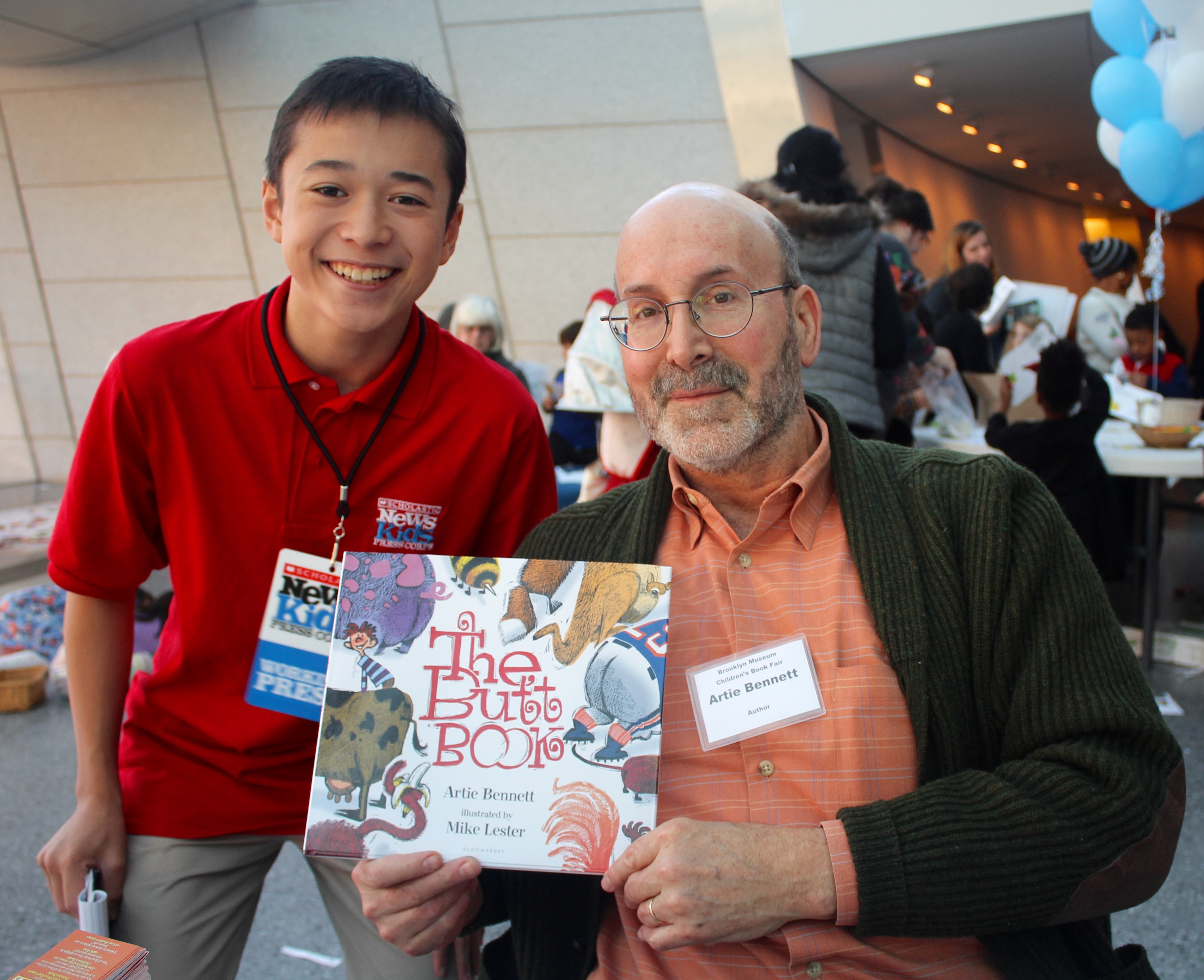 Max and Artie Bennett at the Brooklyn Children's Book Fair