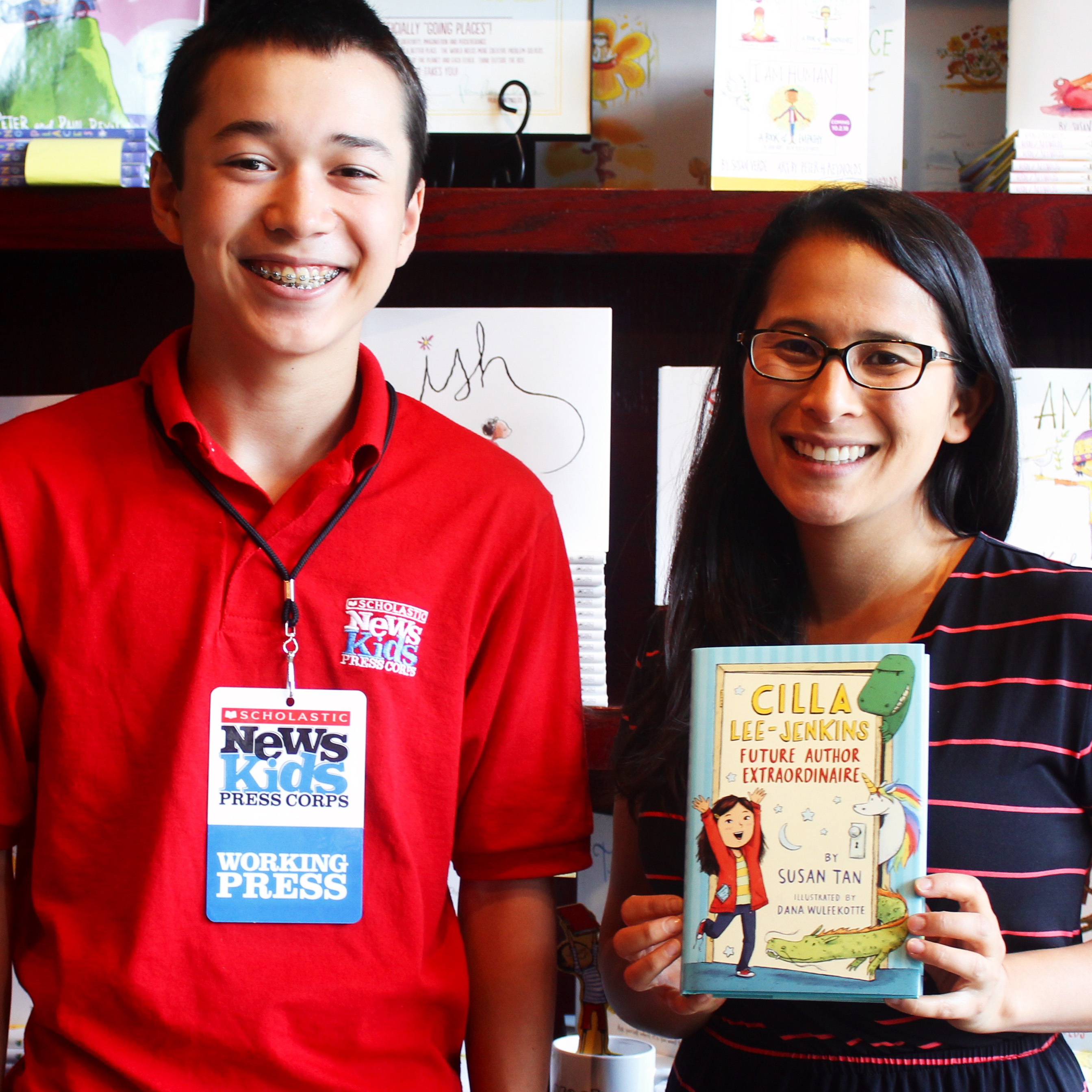 Maxwell Surprenant with author Susan Tan