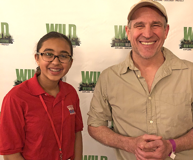Sunaya with Jane Goodall Institute videographer Bill Wallauer