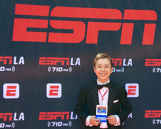 Max reporting at the 25th Annual ESPY Awards at the Microsoft Theatre in Los Angeles
