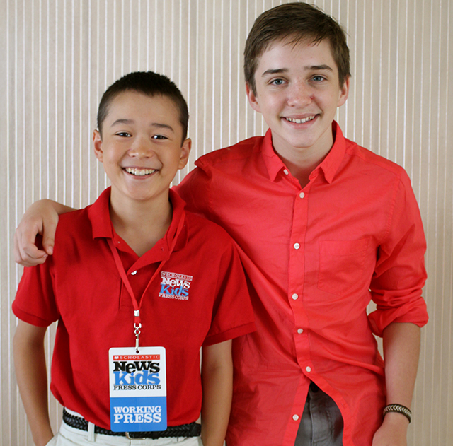 Max with Michael Campion, who plays Jackson Fuller from Fuller House