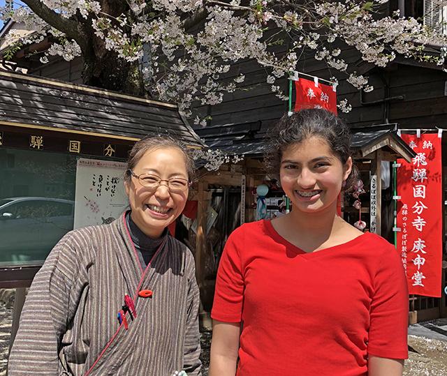 Naoko Furuta with Manat Kaur in Takayama.