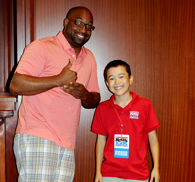 Kwame Alexander with Max