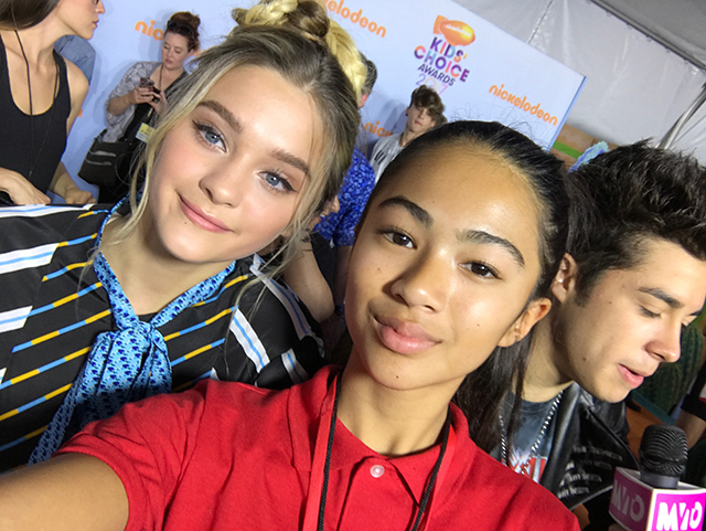 Anais with actress Lizzy Greene of Nicky, Ricky, Dicky & Dawn