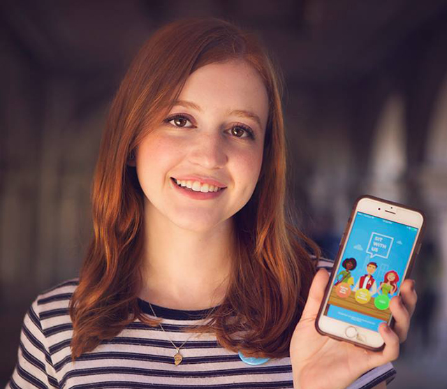Natalie Hampton's app Sit With Us helps end bullying on school campuses.