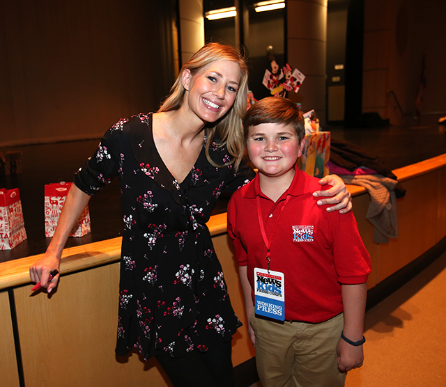 Nolan with Kellie Lightfoot, founder of Dance Unlimited.