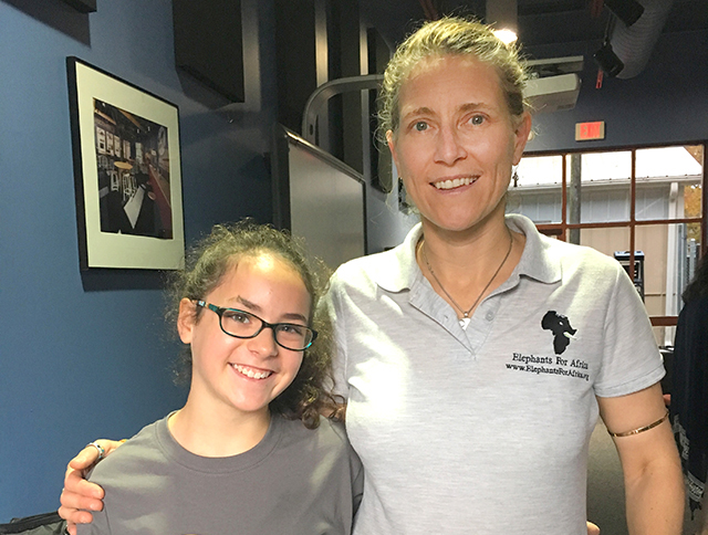 Sadie with Kate Evans, founder and director of Elephants for Africa, at the Memphis Zoo