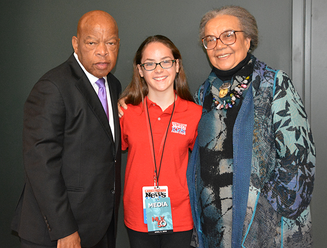 Sadie with John Lewis and Marian Wright Edelman