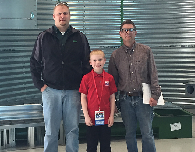 Brandon with Brett Nelson and Brad Poppen of Sukup Manufacturing