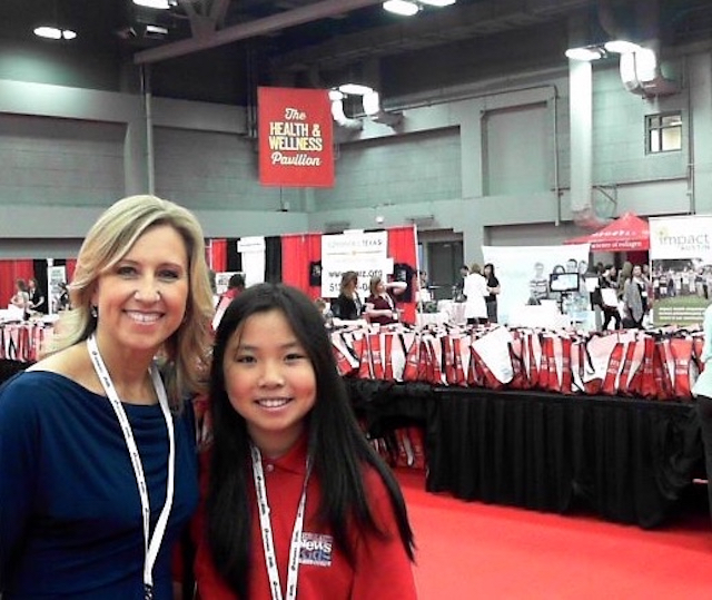 Bridget with anchor Terri Gruca of KVUE News at the Texas Conference for Women in Austin