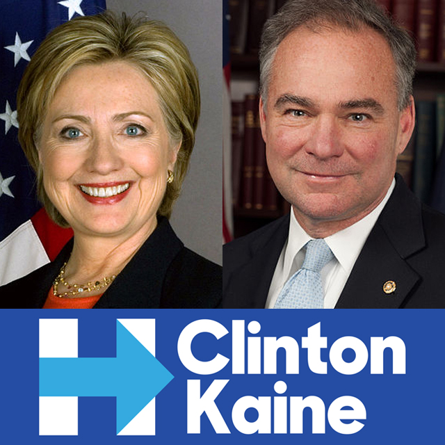 The Democratic ticket: Clinton and Kaine