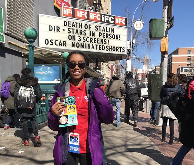 Christina outside the IFC Film Festival
