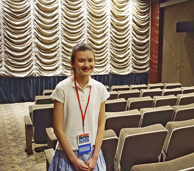 Charlotte at the Dolby 88 Theater in NYC for4 the advance screening of Finding Dory.