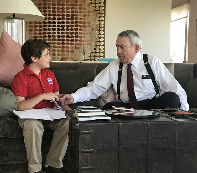 Truman interviewing Dan Rather