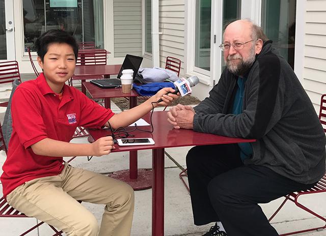 Stone interviews Acton resident Allen Nitschelm.