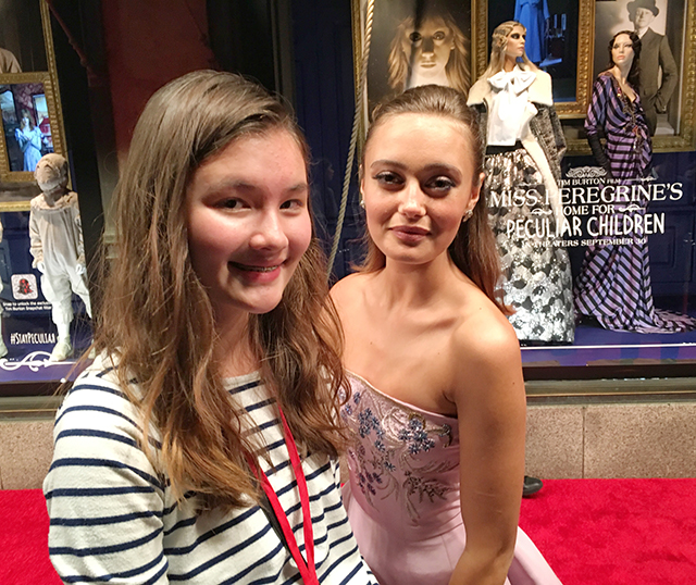 Charlotte and Ella Purnell, who plays Emma Bloom