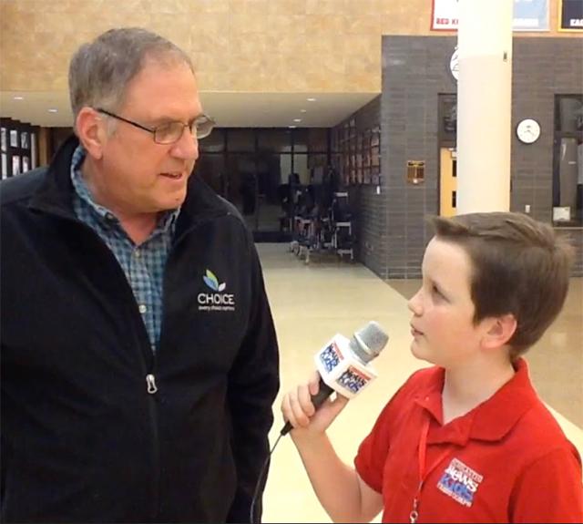 Ryan interviews voter Raymond Schenk of Chanhassen, MN