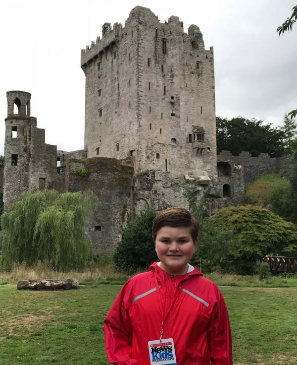 Nolan outside Blarney Castle in County Cork, Ireland.