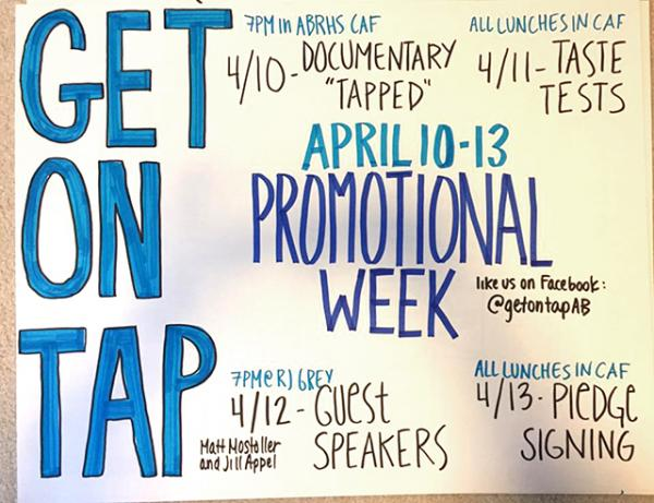 "A ""Get On Tap"" poster"