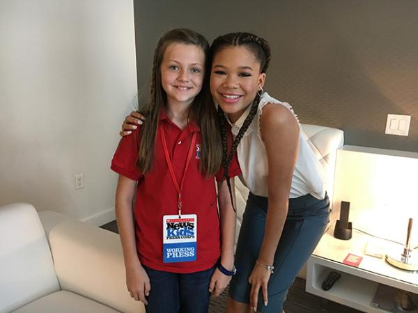 Kid Reporter with Storm Reid, star of A Wrinkle In Time.