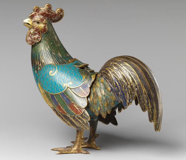 18th Century Rooster Incense Burner (courtesy Metropolitan Museum of Art)