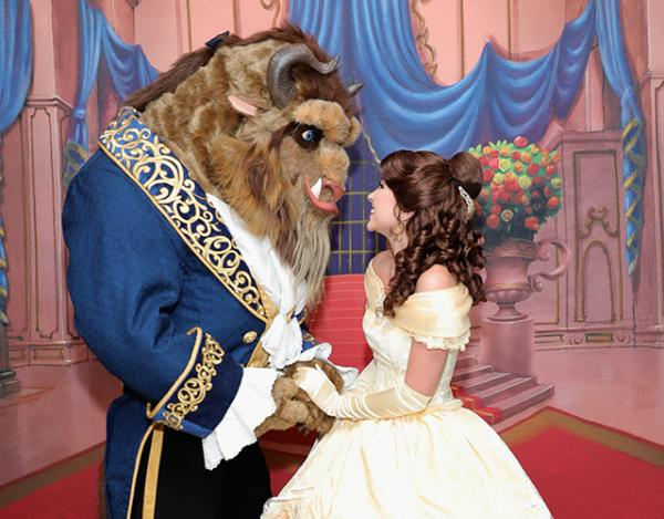 "Beast and Belle attend the special screening of Disney's ""Beauty and the Beast"" to celebrate the 25th Anniversary Edition release on Blu-Ray and DVD on September 18, 2016 in New York City."