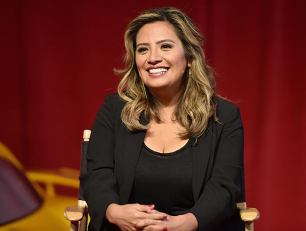 "Actor Cristela Alonzo speaks at the ""Cars 3"" Press Conference at Anaheim Convention Center on June 10, 2017 in Anaheim, California. (Photo by Alberto E. Rodriguez/Getty Images for Disney)"