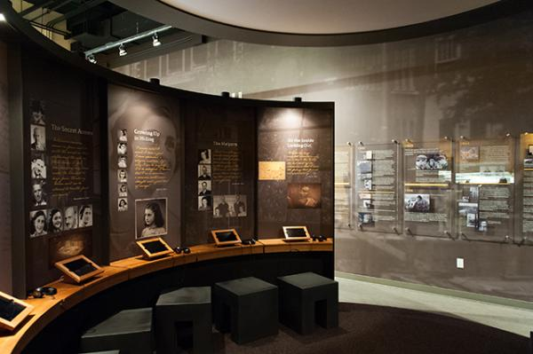 One of the permanent exhibits at the center