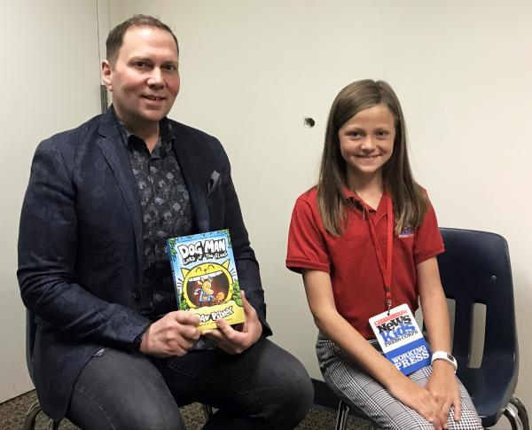 Annika interviews Dav Pilkey, author of the Dog Man and Captain Underpants series.