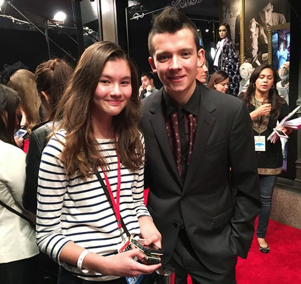 Charlotte with the star of the movie, Asa Butterfield (Jake)