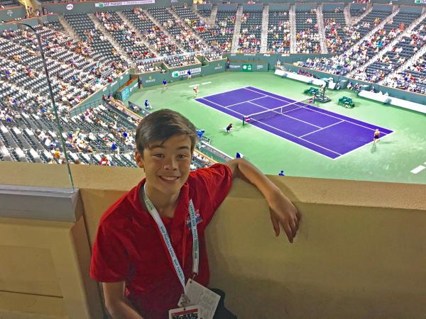 Ben at the at the BNP Paribas Open