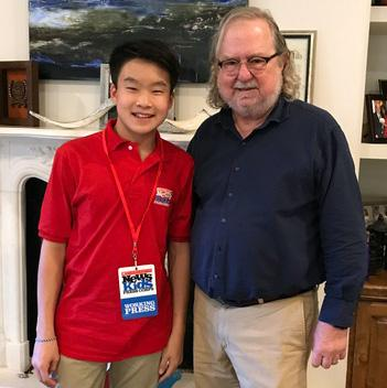 Benjamin with immunologist James P. Allison, a joint winner of the 2018 Nobel Prize in Physiology or Medicine