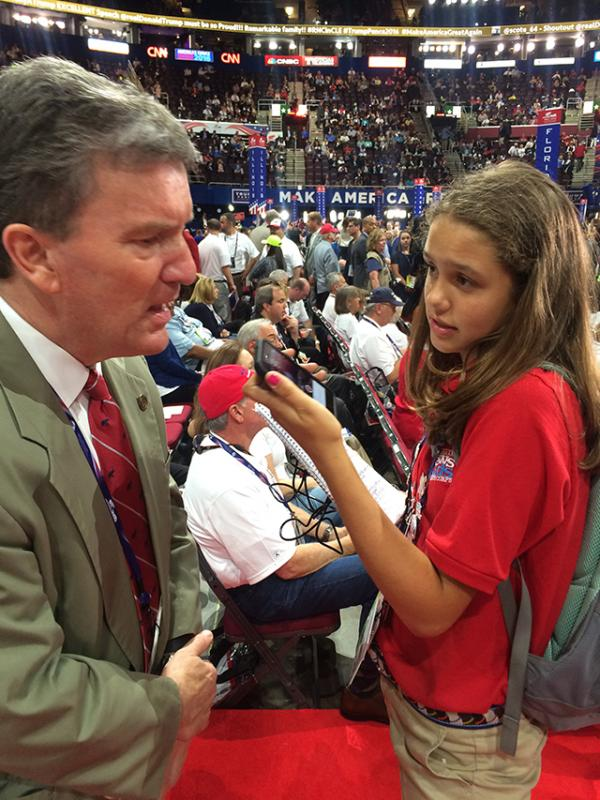 Lilian interviews Brad Courtney, the State Republican Party Chairman in Wisconsin, at the Q.