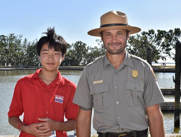 Stone with park ranger Jason.