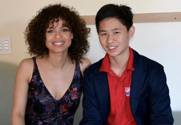 Jeremy Hsiao interviews Gugu Mbatha-Raw, who plays the role of Plumette in the film.