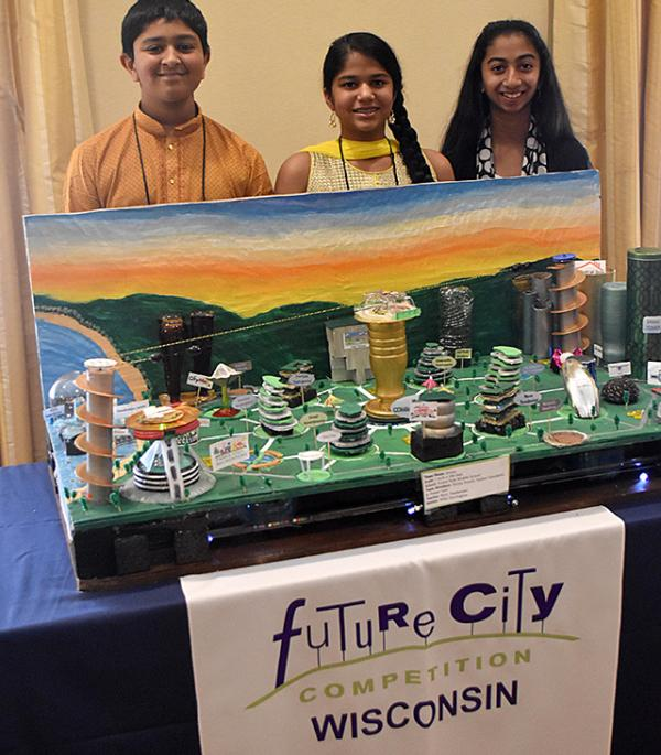 Future City team with their project