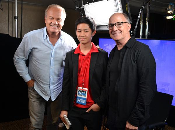 Jeremy with Storks actor Kelsey Grammar, who plays Hunter, and producer Brad Lewis