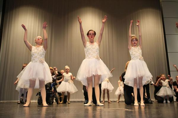 Three Dance Unlimited performers during their Christmas Recital.