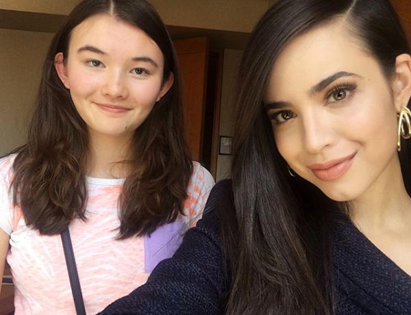 Charlotte with Sofia Carson