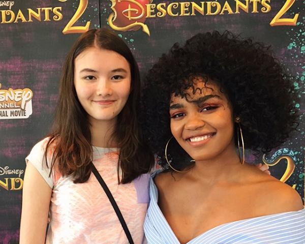 Charlotte with China Anne McClain