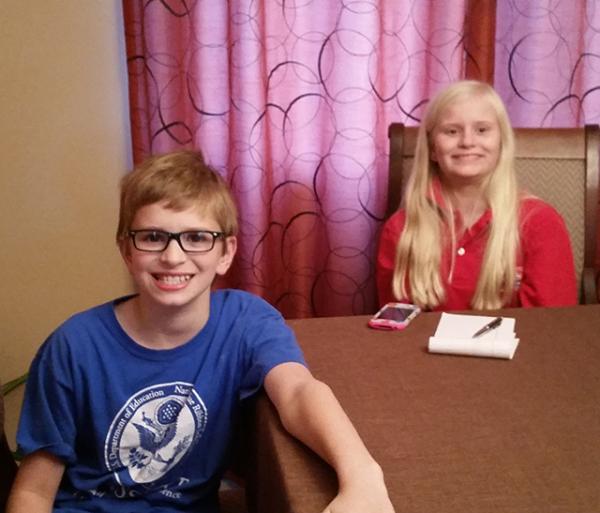 Evelyn with Jacob Rintamaki